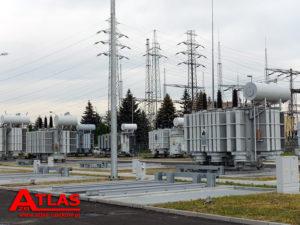 Stanowiska transformatorów mocy w bazie Pasikurowice.